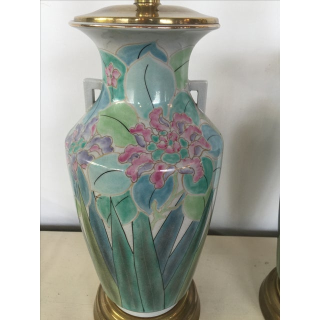 Chinoserie Hand Painted Fredrick Cooper Lamps - 2 - Image 3 of 9