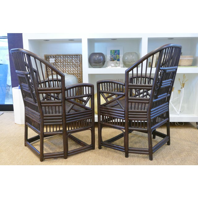 1960s 1960s Bamboo Cane Chairs - a Pair For Sale - Image 5 of 10