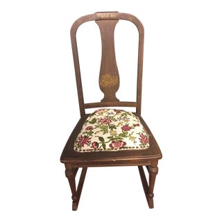 Antique Jb Sciver Co. Small Rocking Chair For Sale