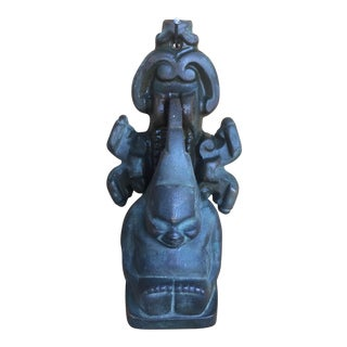 "1910 Figure of the Billiken ""God of Things as They Ought to Be"" Iron Door Knocker For Sale"