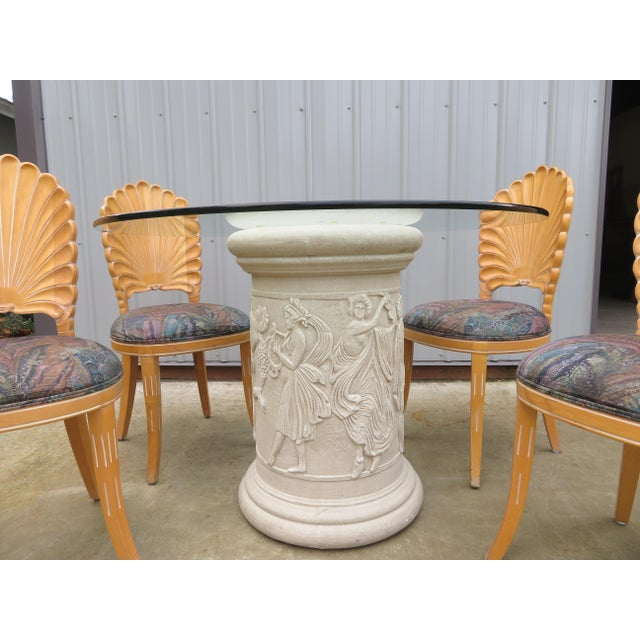Hollywood Regency 20th Century Vintage Italian Grotto Dining Table - 5 Pieces For Sale - Image 3 of 12