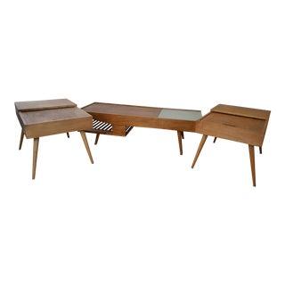 John Keal for Brown Saltman Mahogany Coffee & End Tables - Set of 3