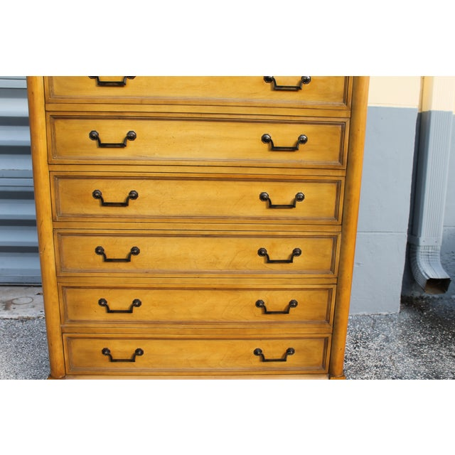 Mid-Century Italian Provincial 12 Drawer Dresser For Sale In Miami - Image 6 of 11