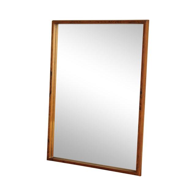 Danish Modern Mid Century Rosewood Rectangular Wall Mirror For Sale - Image 13 of 13
