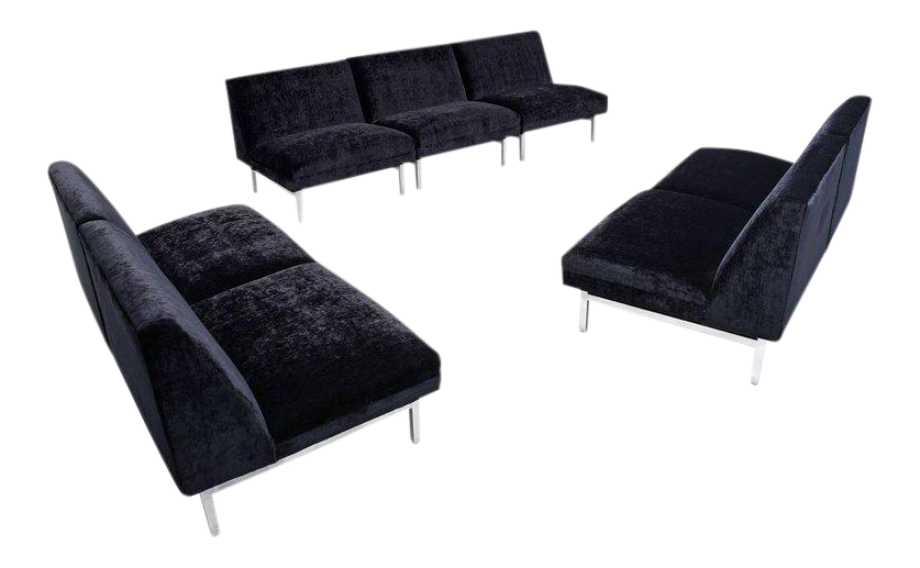 Seven Piece George Nelson For Herman Miller Sectional Sofa Modular Seating  Group
