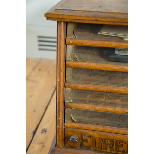 Antique Victorian Eureka Silk Spool Cabinet - Image 5 of 8