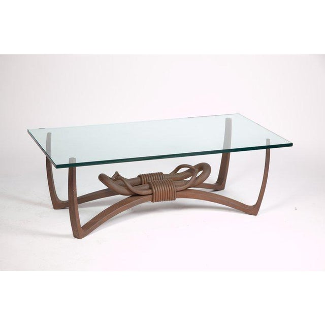 Gray Hand-Forged Steel Cocktail Table For Sale - Image 8 of 8
