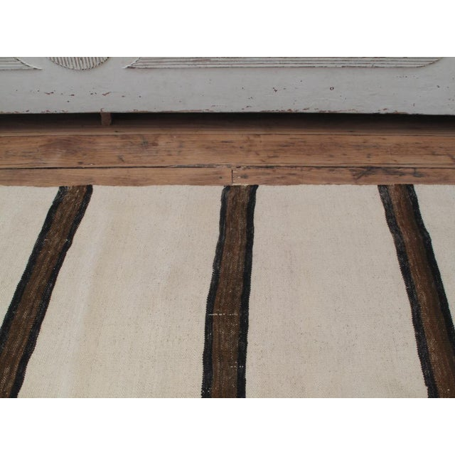Banded Kilim Wide Runner For Sale - Image 4 of 7