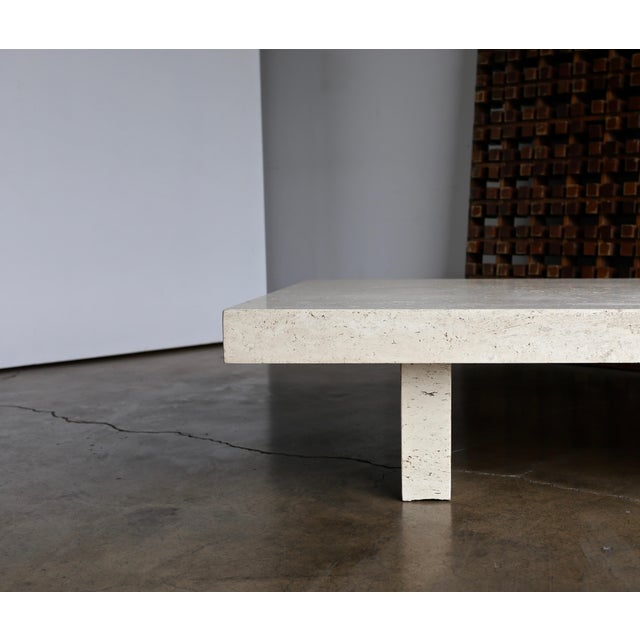 Travertine Coffee Table, Circa 1980 For Sale In Los Angeles - Image 6 of 13