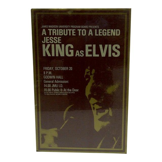 C. 1980 Jesse King as Elvis James Madison University Poster For Sale