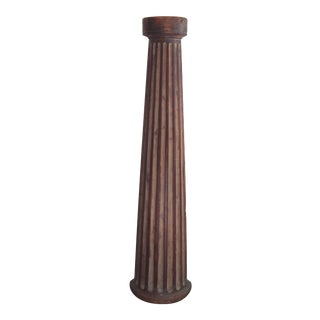Demi-Lune Column Pedestal For Sale