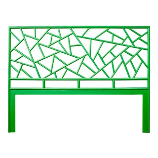 Tiffany Headboard King - Bright Green For Sale