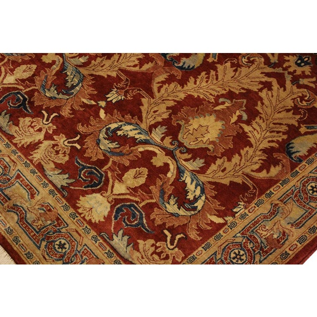 Istanbul Philomen Rust/Tan Turkish Hand-Knotted Rug -4'10 X 6'11 For Sale In New York - Image 6 of 8