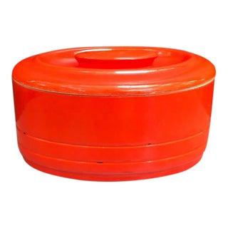 Westinghouse Orange Oval Lidded Canister For Sale