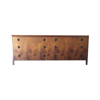 Mid-Century Beautiful Grain Walnut Dresser For Sale