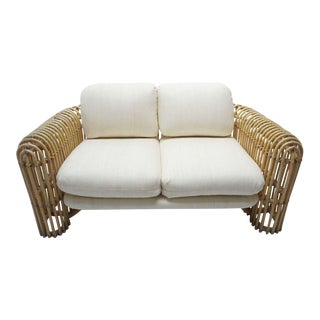 Albini Style Rattan Loveseat For Sale