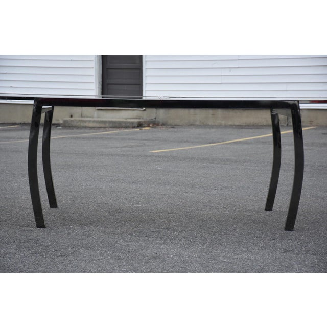 Dia Gunmetal Chrome Modern Dining Table For Sale In Boston - Image 6 of 11