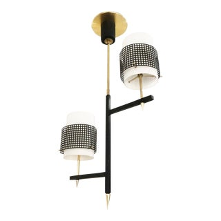 1960s Mid-Century Two Light Pendant For Sale