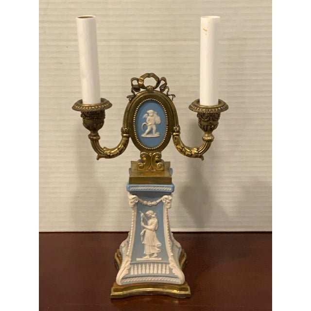 Early 20th Century Wedgwood Adam Style Ormolu Mounted Lamp For Sale - Image 5 of 11