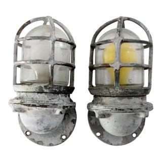 Vintage Ship Lights - Pair