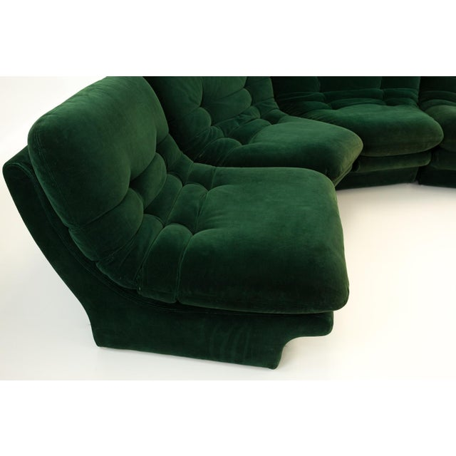 Excellent vintage condition. Each section consists of a cushion and a base, totaling 12 pieces in all. The sofa can be...
