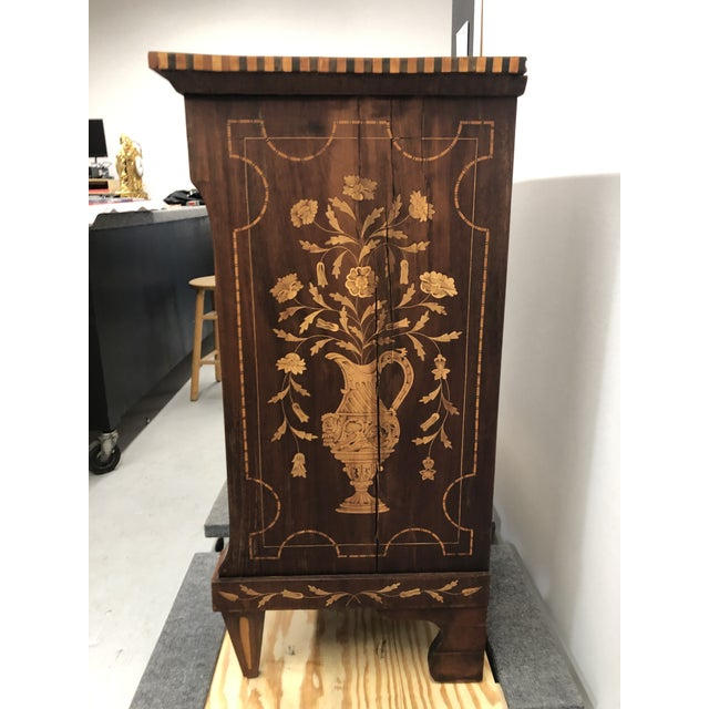 Early 19th Century Dutch Hardwood Inlaid Four Drawer Chest For Sale - Image 12 of 13