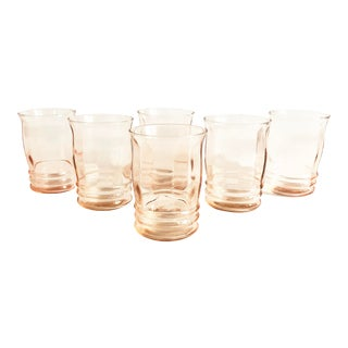 Vintage Blush Pink Tumblers - Set of 6 For Sale