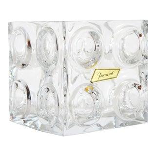 Vintage Baccarat Crystal Bullseye Cube Ice Bucket For Sale