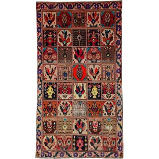 "Vintage Persian Bakhtiari Rug – Size: 4' 6"" X 8' 3"" For Sale"