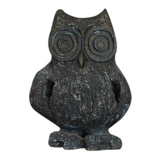 Large Brutalist Ceramic Owl Sculpture by Margot Kempe - 1960s For Sale