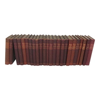 Antique Merlot Books - Set of 24 For Sale