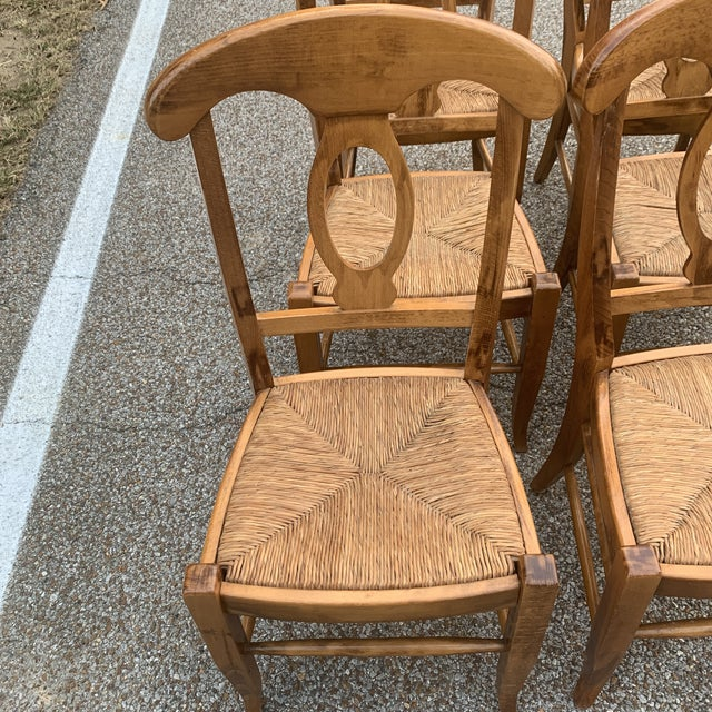 Set of 6 Rush Seat Dining Chairs by Pottery Barn. These Chairs Were Made in Italy. Very Good Condition. They Have a...