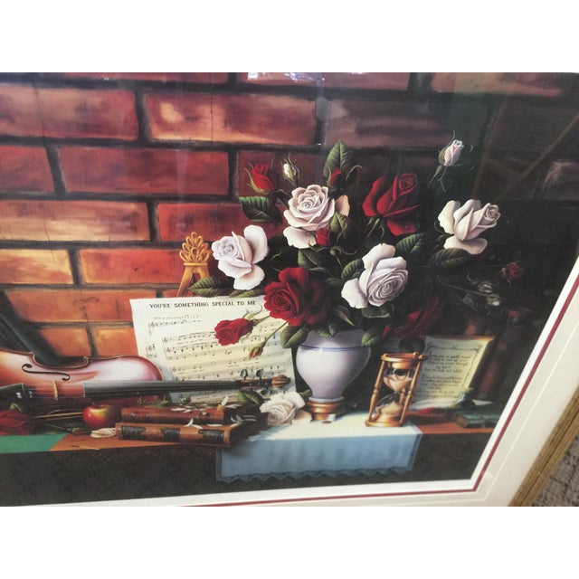 Realism 1980s Ronnie Hedge Limited Edition Signed Lithograph Still Life For Sale - Image 3 of 6