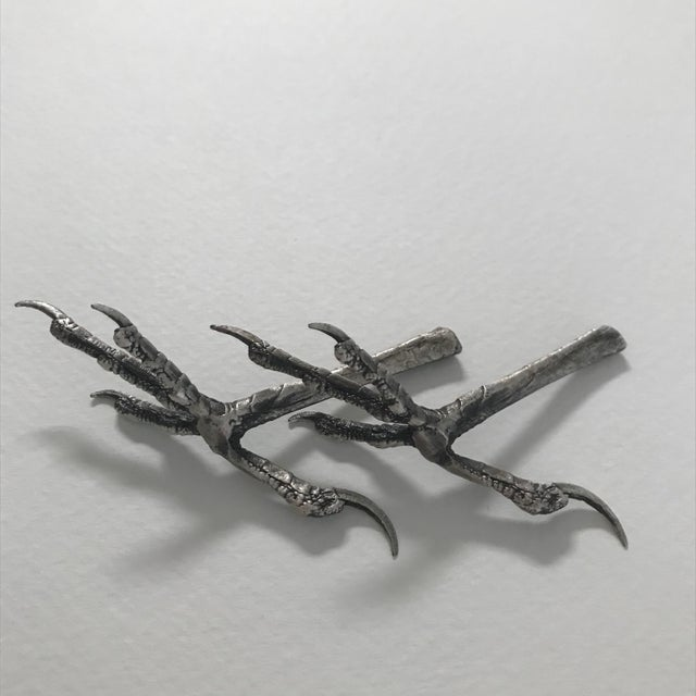 Ria Charisse Bird Feet Sculptures - a Pair For Sale - Image 4 of 8