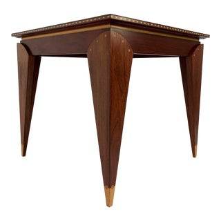 Postmodern Game Table, Studio Made and Handcrafted in Cherry and Walnut, D. 1988 For Sale