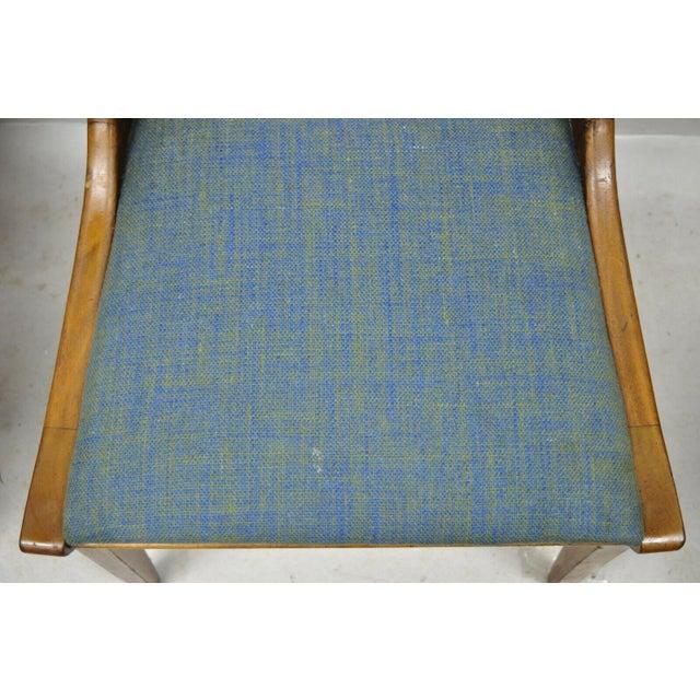 Mid 20th Century Drexel Dateline John Van Koert Walnut Mid Century Modern Dining Chairs - a Pair For Sale - Image 5 of 13