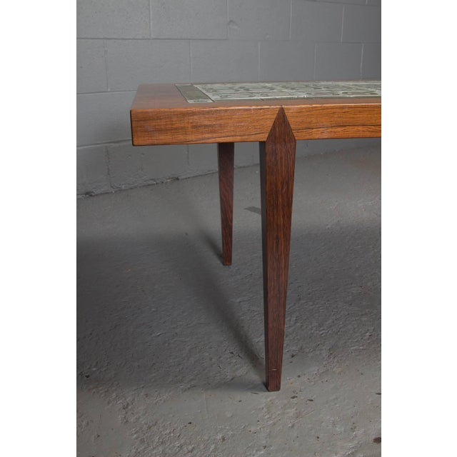 Rosewood Rosewood and Green Tile Coffee Table For Sale - Image 7 of 10