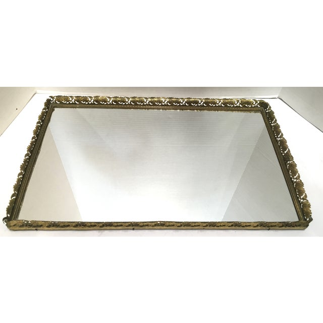 Vintage Mirrored Filigree Vanity Tray Set - Set of 4 For Sale - Image 11 of - Vintage Mirrored Filigree Vanity Tray Set - Set Of 4 Chairish
