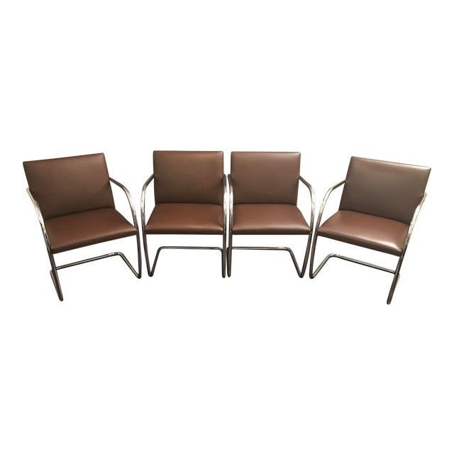Mies Van Der Rohe for Knoll Brno Chairs - Set of 4 - Image 1 of 7