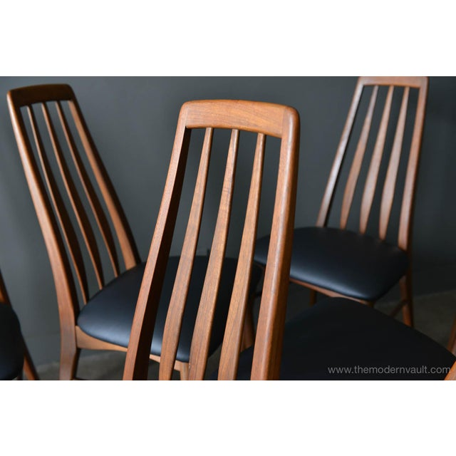 "1960s Vintage Koefoed of Denmark Walnut High Back ""Eva"" Dining Chairs - Set of 8 For Sale - Image 10 of 12"