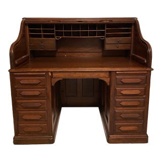 20th Century Antique Roll Top Derby Desk For Sale
