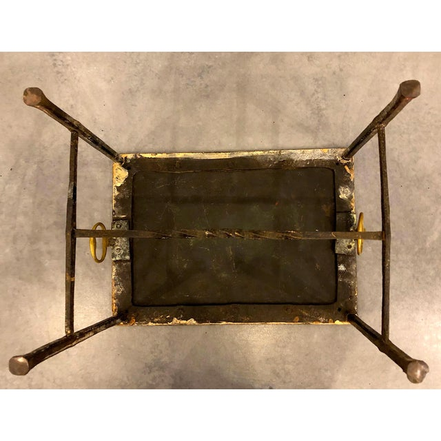Brass Fireplace Pot Stand For Sale - Image 6 of 7
