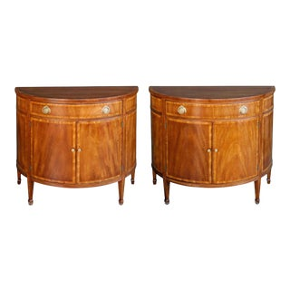 English Edwardian Mahogany Cabinets - a Pair For Sale
