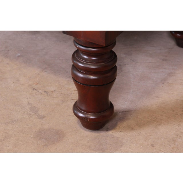Ralph Lauren for Henredon American Empire Carved Mahogany Highboy Dresser For Sale - Image 10 of 13