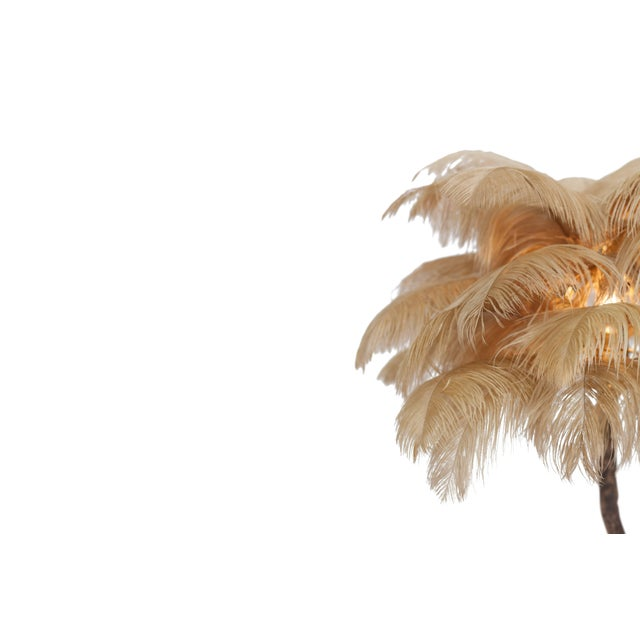 2010s Bronze Tree Feather Lamp For Sale - Image 5 of 7