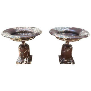 Pair of Late 19th Century Marble Tazzas For Sale
