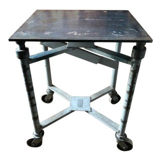 Antique Industrial Adjustable Printer's Table For Sale