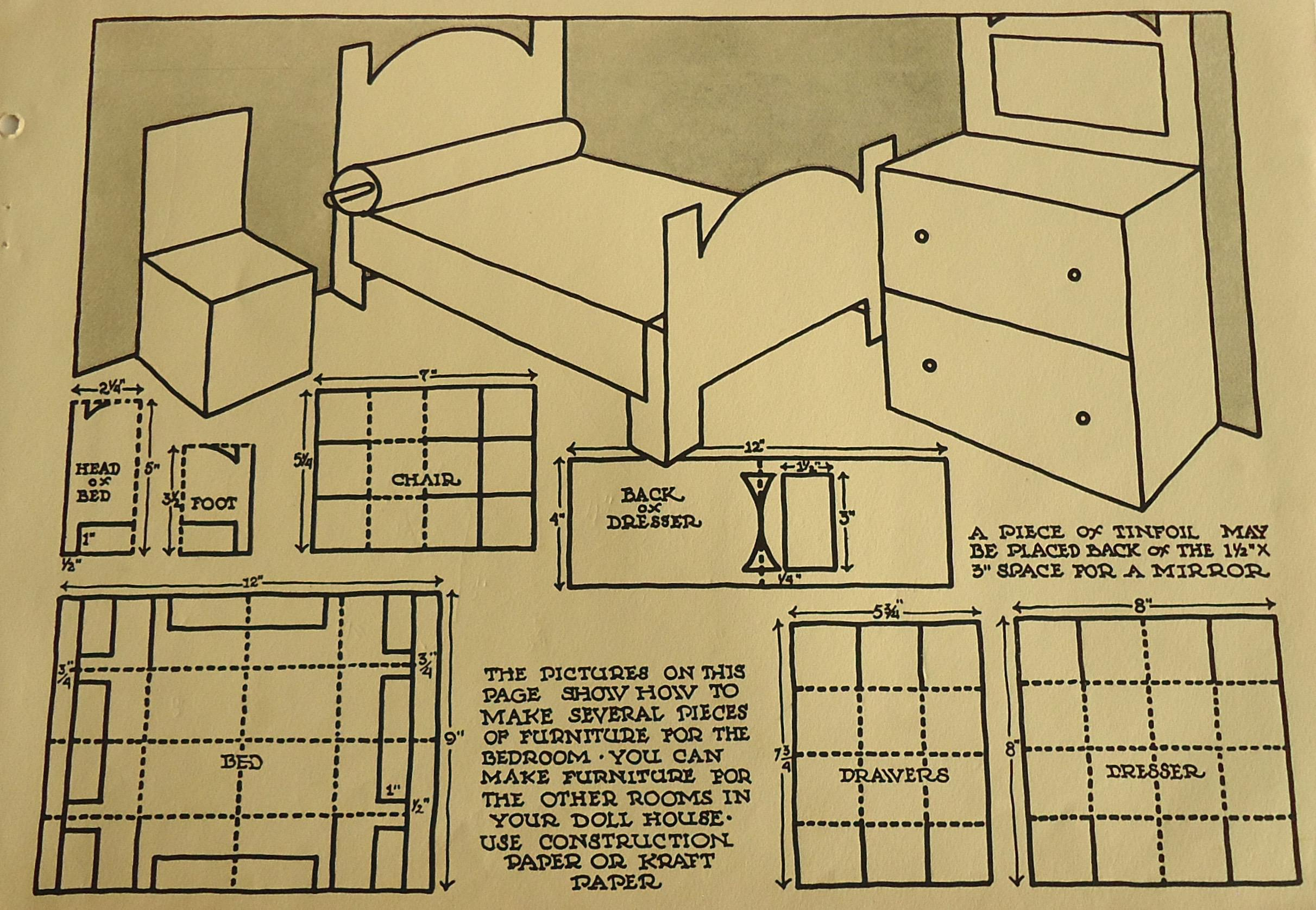 This 1931 Print Is Taken From Supplemental Teacheru0027s Materials From The  Same Educational Series As The. Art Deco Dollhouse Furniture ...