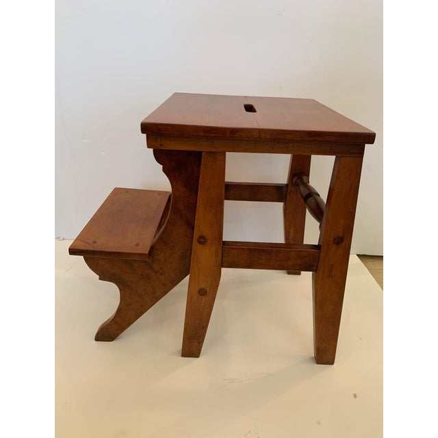 Antique Birdseye Maple Library Steps For Sale - Image 13 of 13