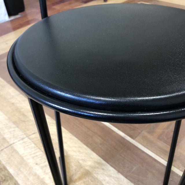 Terrific Flyline Carre Vi Italian Leather Counter Stool Camellatalisay Diy Chair Ideas Camellatalisaycom